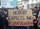 Puerta del Sol-Viva la Revolucion-Bewußte? Blindheit der Medien